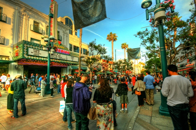 The 3rd Street Promenade in Santa Monica, a great example of a successful pedestrian mall.