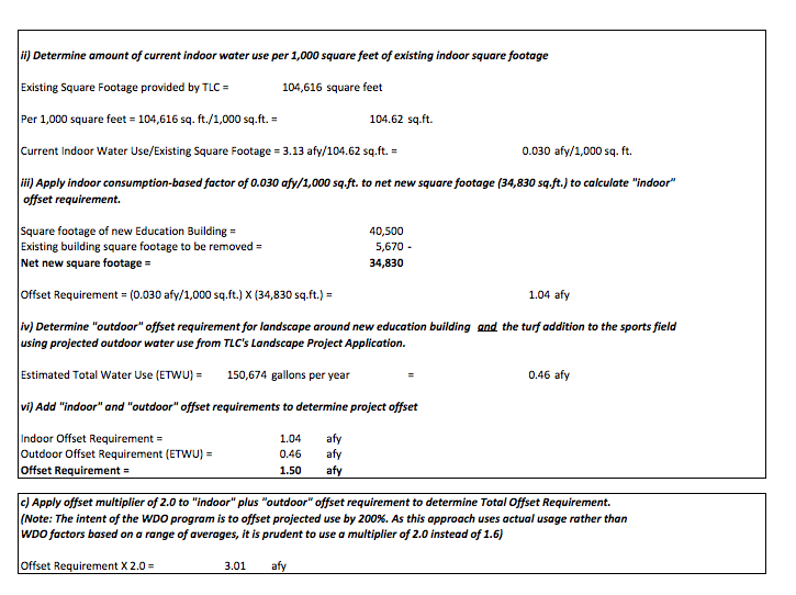 Twin Lakes Alternate Water Demand Offset Calculation Page 2