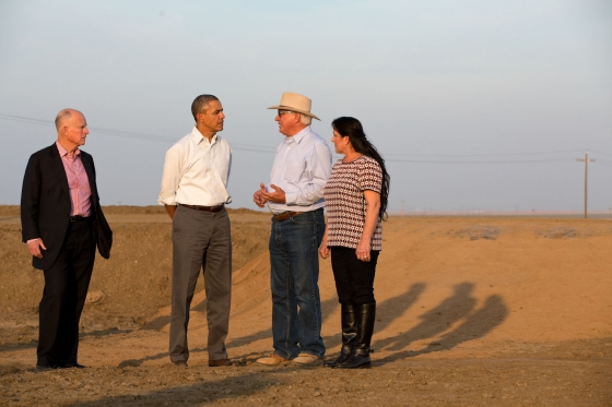 President Obama & Governor Jerry Brown speak with farmers about California drought.