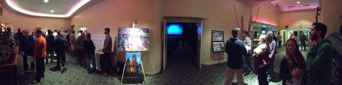 "The lobby of the Rio before the screening of ""Water for Santa Cruz County."""