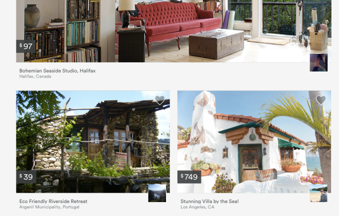 Airbnb allows users to browse through thousands of short term rentals.