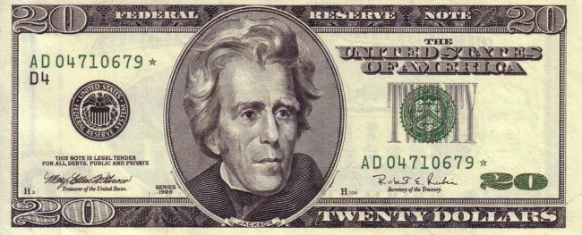 A New Face On The $20 Bill?