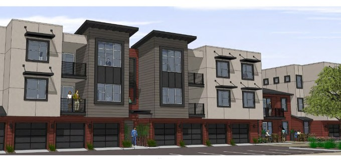 Artists rendering of the new Riverwalk Apartments in Downtown Santa Cruz