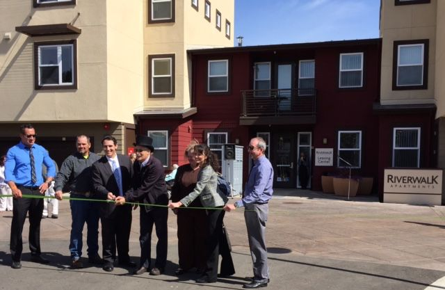 The opening of the Riverwalk apartments on River Street in Santa Cruz.