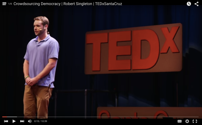 Live at TEDx Santa Cruz, March 24, 2015